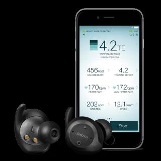 Jabra Elite Sport 配合專用的手機 App 《 Jabra Sport Life 》,組成輕巧而富專業感覺的運動追踪系統。