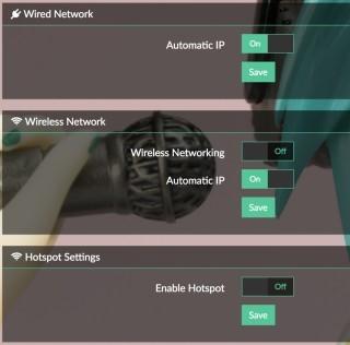 不單支援 Wi-Fi 連線,還可以開啟 Hotspot 模式,讓其他電腦進行點對點控制。