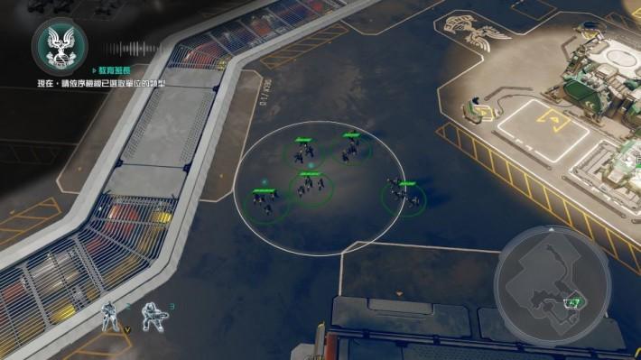 《Halo Wars 2》可以透過快速群組功能,把不同兵種設置成小隊,最多能設立4個小隊方便同步進攻
