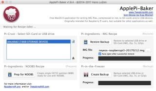 只要用影像檔抄錄軟件,就可以輕鬆完成安裝工作(圖為 macOS 上的 ApplePi-Baker)