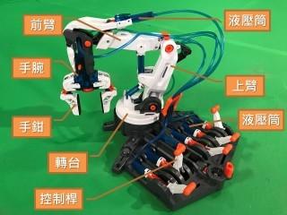 全組機械人手臂分為多個部分。