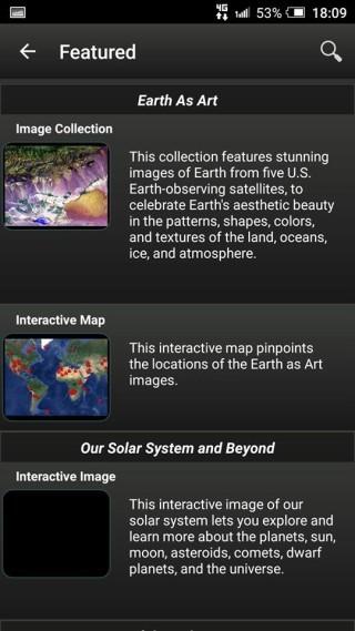 App中附有各種太空科技的新 聞。
