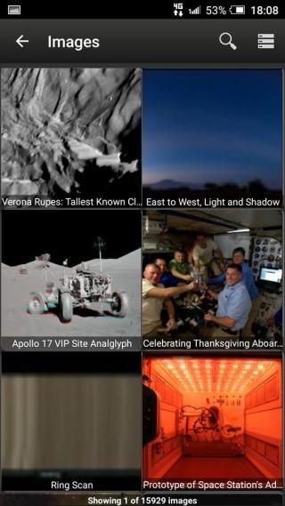 照片方面,除行星表面外, NASA 也提供了太空人的工作照片。