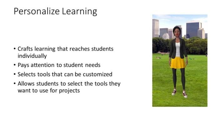 Personalize Learning 特點之一是要讓學生具備起動力的條件,當中包括需要學生擁有相關技能。