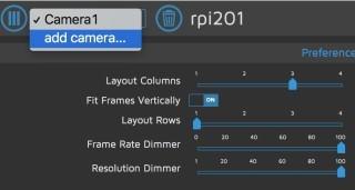 按下網頁左上角的 Add Camera... 選項,就可以加入其他位置的監控攝影機