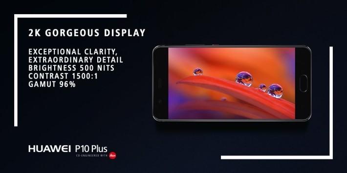 P10 Plus 提供 2K IPS 屏幕。