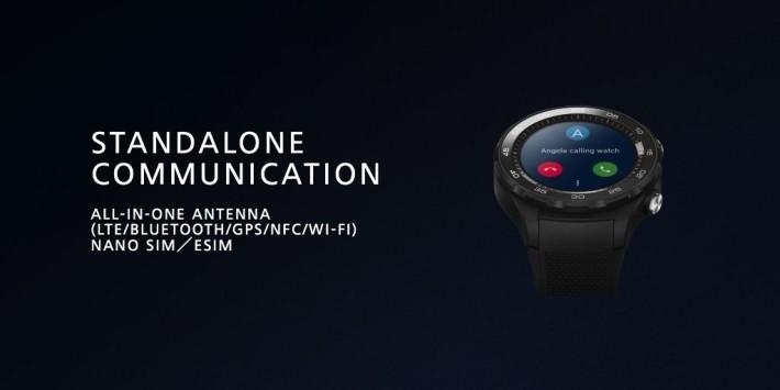 Huawei Watch 2 具備獨立通訊能力。