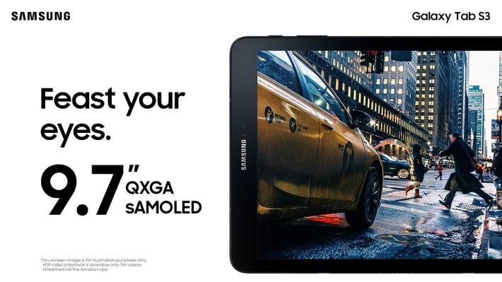 採用 9.7 吋屏幕,同時支援 HDR 影像。及 97% sRGB 色域。