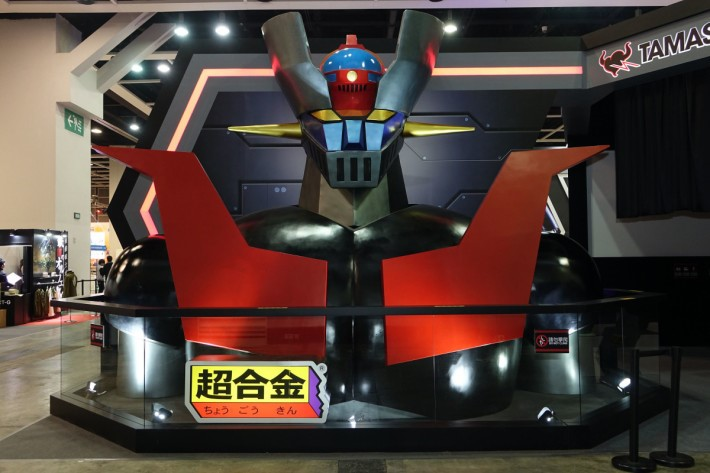 鐵甲萬能俠是今次 Bandai 攤位的重點之一,這個胸像雖不是 1:1 ,但氣勢已經相當利害。