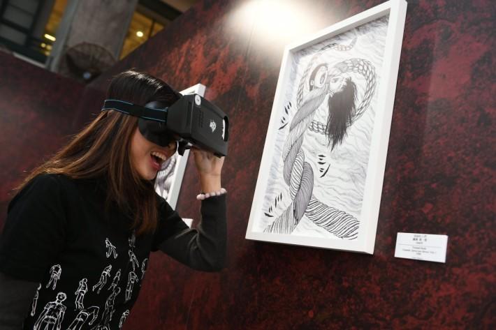 部份展品會對應 AR擴增實境技術,為觀眾帶來不一樣的體驗。