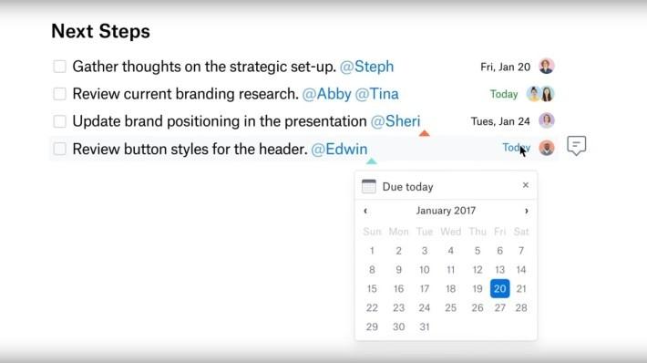 如你使用 Google 帳戶登入的話,Paper 可與 Google 日曆同步。
