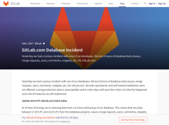 Gitlab誤刪300G數據 直播拯救行動