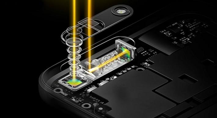 OPPO 的新技術可透過光學稜鏡,來達到光學變焦距的效果。