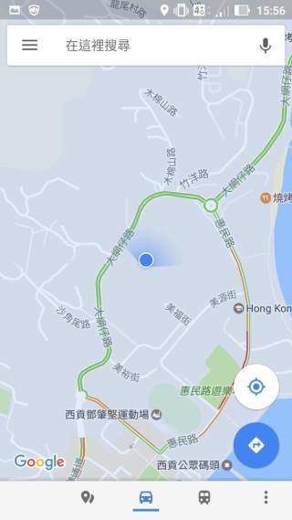 開啟 GPS ,按下第二個路況的鍵,地圖就會顥示當前的交通路況,較從前的方便。
