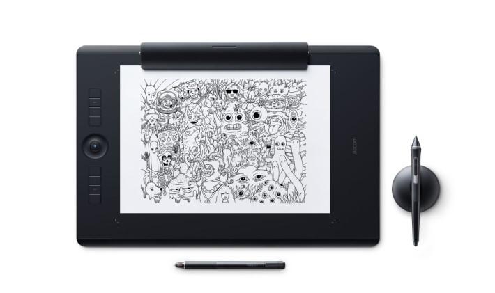 用家直接在紙上創作後,Intuos Pro Paper Edition 再將該圖變為數碼圖案。