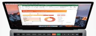 Excel Touch Bar 顯示最近使用的函數