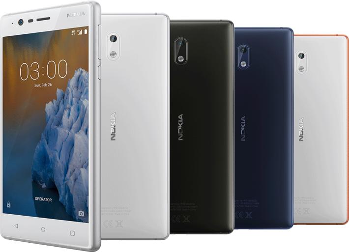 入門機 Nokia 3,外形竟然有點似以前Sony Mobile 中價機。