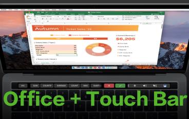 【 Touch Bar 加持】Mac 版 Office 2016 更新