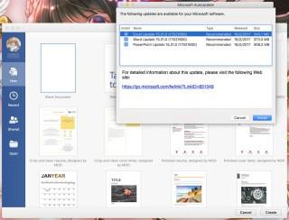只要開啟任何一個 Office 軟件,就會觸發檢查更新程序,並詢問你是否更新。