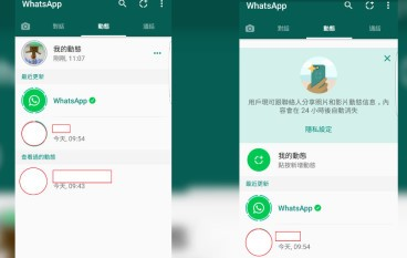 【 Whatsapp 8 周年】Whatsapp 都有「限時動態」 24小時內自我消滅