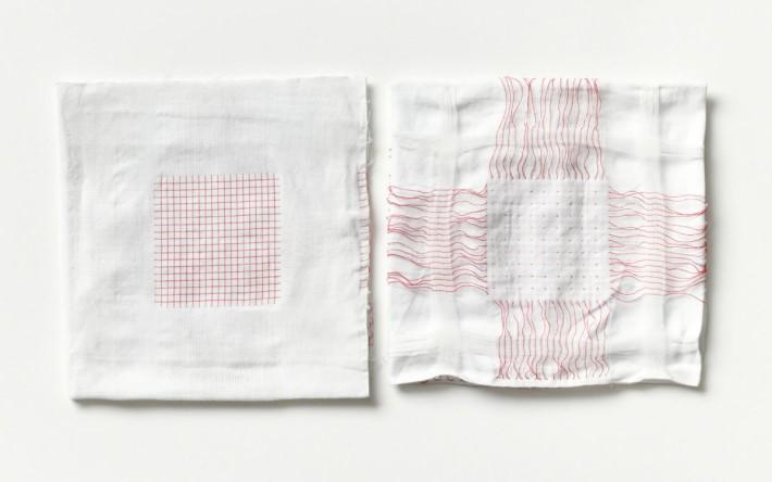用新的紗線織布,就等同用紗線織出觸控感應器的網格