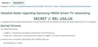 有關 Samsung F8000 智能電視的網絡相關文件