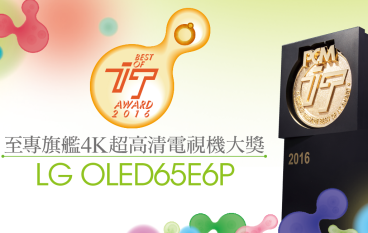 【IT Award 2016】至專旗艦 4K 超高清電視機大獎-LG OLED TV 4K E6