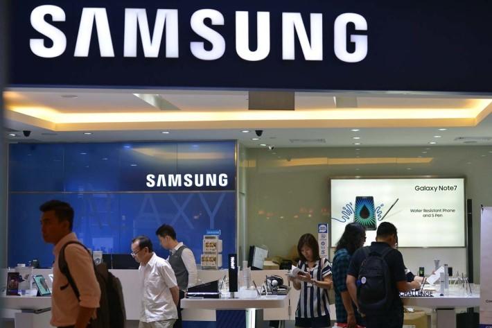 涉事的 Samsung 專門店。