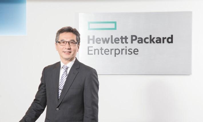 HPE 企業伺服器部門高級業務經理麥家樂。