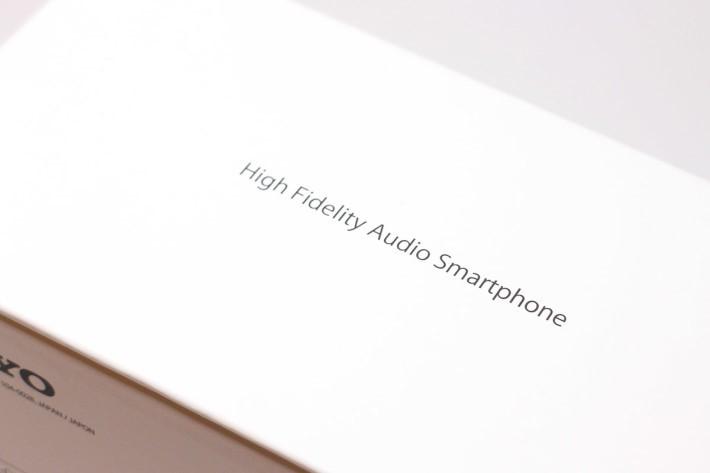外盒一句「High fidelity audio smartphone」就道出了重點:這是一部為高品質音樂而生的手機。