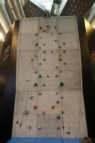 樓高約7米的攀石體驗區
