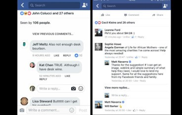 Facebook 試新嘢 回應變信息?!