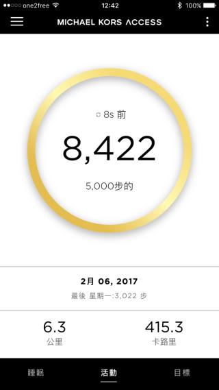 每日步行數目可以清楚掌握。