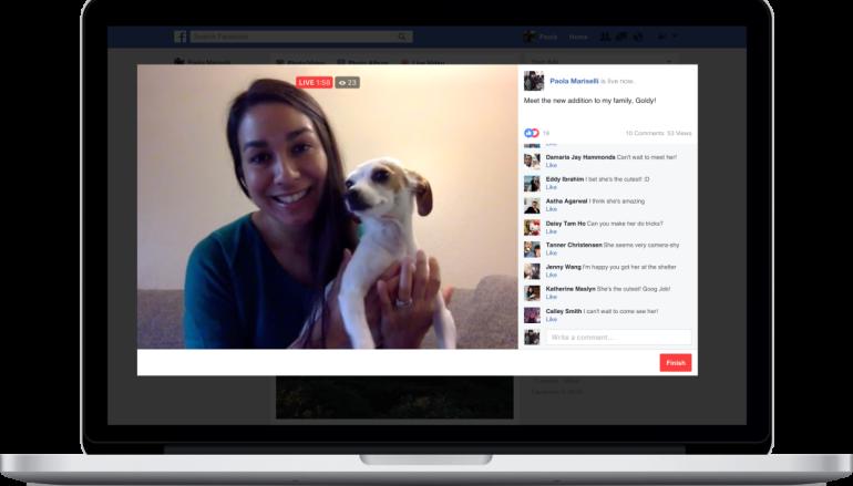 Facebook Live 全面開放 電腦 Notebook 高清直播
