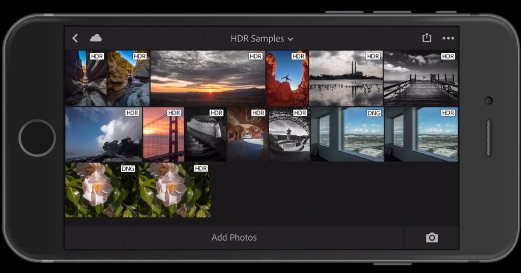 播放相片的介面上,相片會顯示「HDR」字樣。