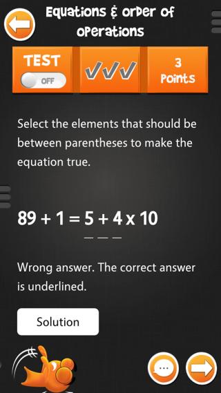 測驗會即時告訴學生答對還是 錯,還會提供正確答案。