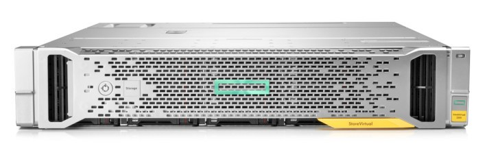 在配備控制器的架構上設有 25 個 2.5 吋(SFF)或 12 個 3.5 吋(LFF)硬碟槽,分別提供 50TB 或 72TB 儲存空間。