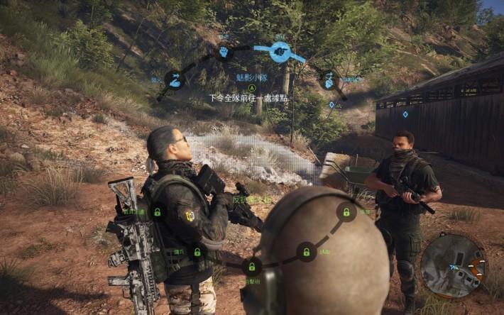 玩家可透過下達指令,讓隊友在指定位置待機,或者進行同步射擊,對於潛入敵方基地極有幫助。
