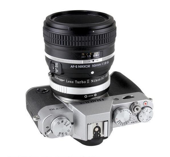 Zhongyi Lens Turbo II EOS-FX 轉接環讓富士 X Mount 相機使用 Nikon 鏡頭。