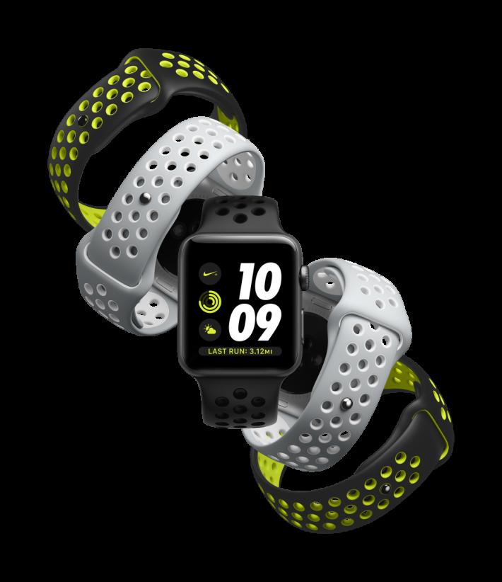 Apple Watch Nike+ 新色取代舊色,選擇少了,幸好仍有黑配熒光黃色錶帶可買。