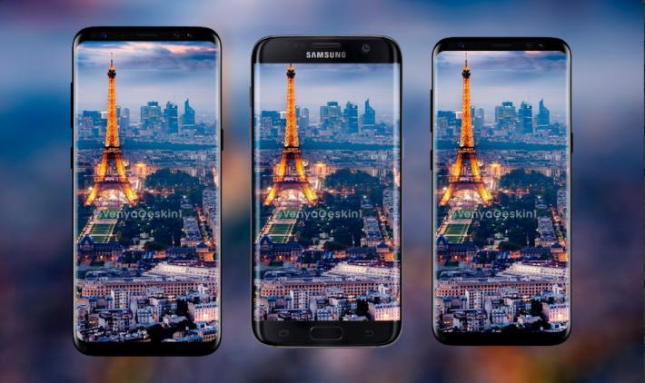 (左起) S8+,S7 edge 及 S8 的比較。