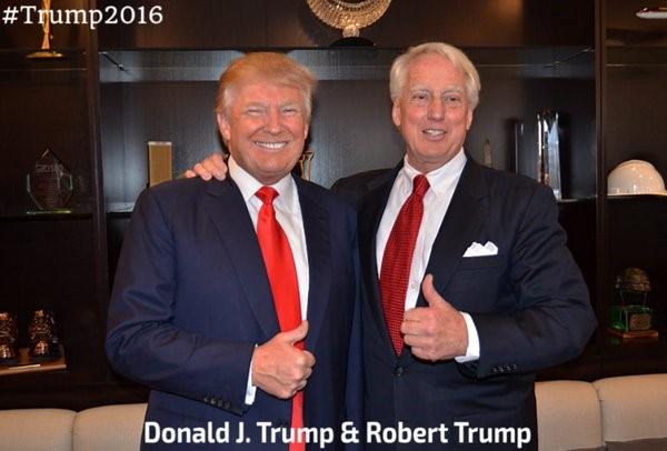 左為美國總統特朗普 右為其兄弟 Robert Trump