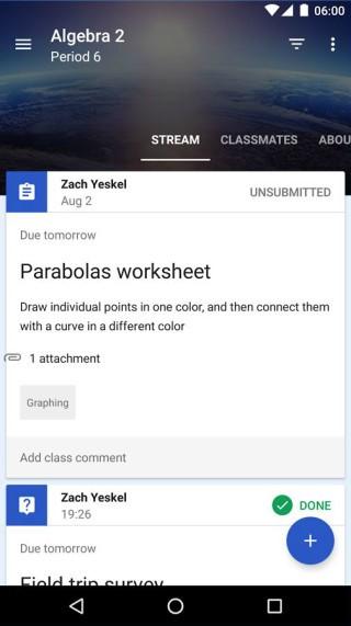 課程內提供各堂的內容,教師可建立附件。