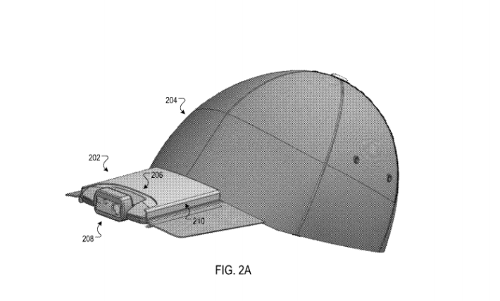 Google 近日取得能拍照帽子的專利。