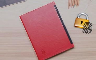 指紋解鎖活頁筆記簿復古+時興