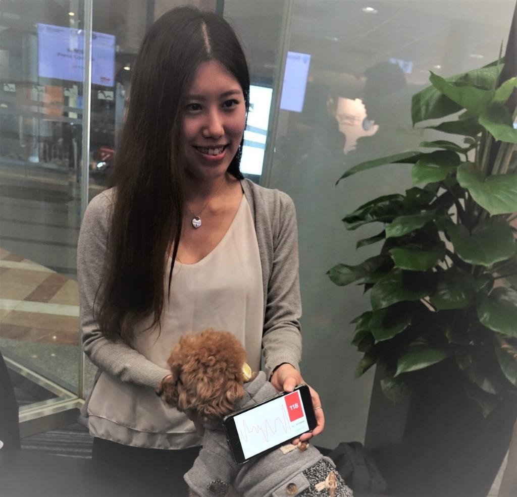aniWEAR 的「寵物健康數據分析平台」隔著皮毛也能讀取數據,比可穿戴設備更方便。