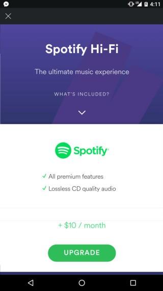 Spotify Premium 用家可透過額外付費方式享受無損音樂。