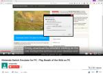 宣稱介紹如何下載和使用 Nintendo Switch 模擬器的 Youtube 影片