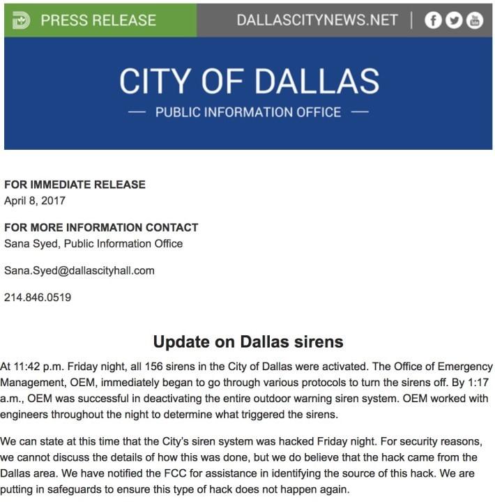 市政府向市民交待警報系統被駭詳情