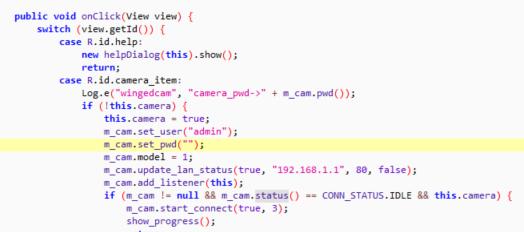 機內的 Web server 的管理人帳號竟然是 hardcode 在程式裡,而且是沒有密碼的。